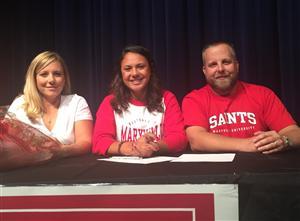 Hannah Johnson Signing Day Softball 2015