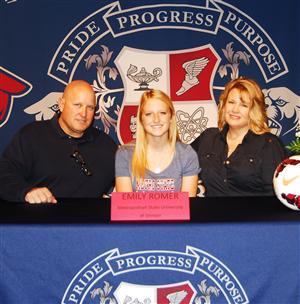 Emily Romer and her family Signing Day 2015