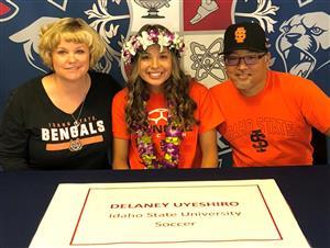 Delaney Uyeshiro Signing Day 2-7-18