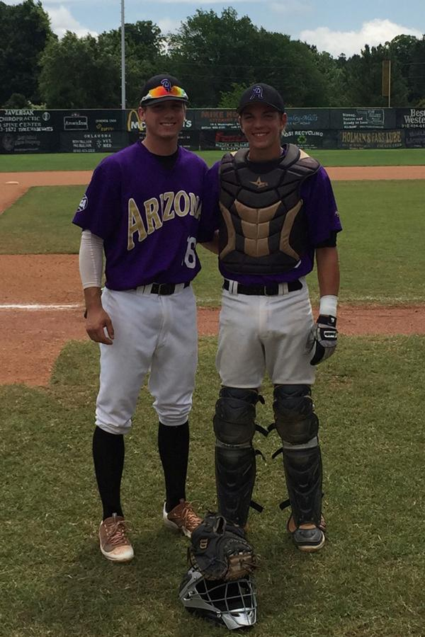 Seniors Trevor Hauver, left, and Cody Holtz represented PHS and Arizona at the Sunbelt Classic in June.