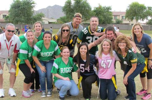 Student Council plays Staff in Flag Football