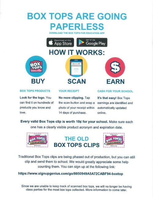 Box tops going paperless