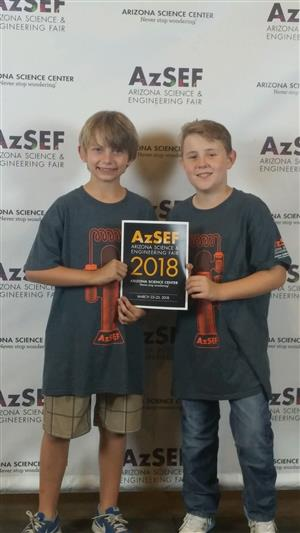 Jack and Isaac w award