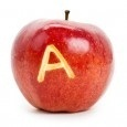 Apple with an A.