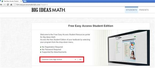 free easy access student edition - common core high school