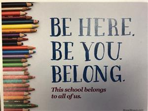 be here. be you. belong