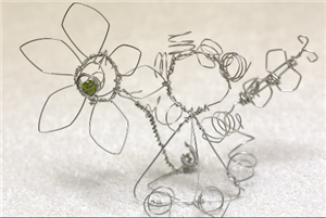 wire flower picture