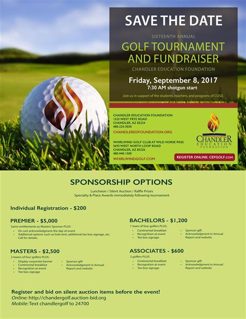 16th Annual Golf Tournament Fundraiser