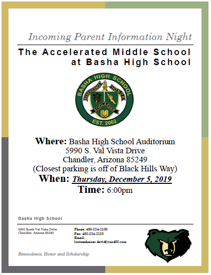 AMS Incoming Parent Night 2019