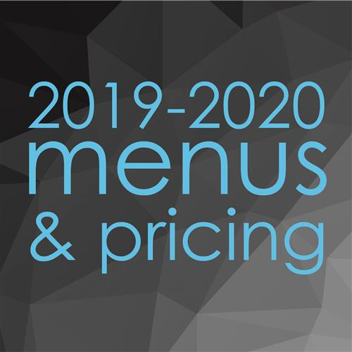 menus and pricing