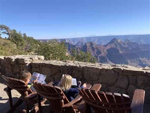 Max and Eden at the Grand Canyon