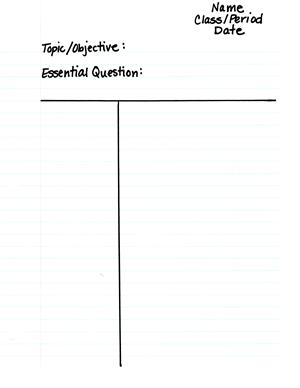 photo regarding Avid Cornell Notes Printable named AVID / Cornell Notes
