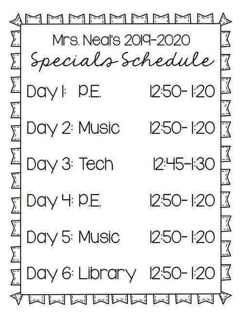 Cms Calendar 2014-2020 1 CTA   Neal, Angie / Specials Schedule