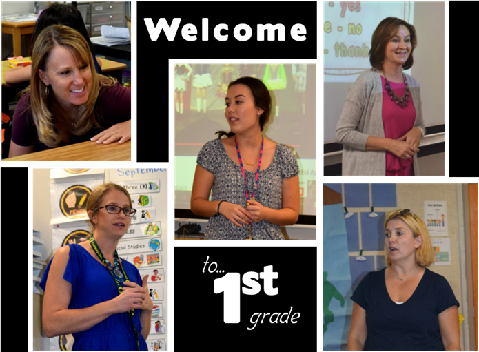 Welcome to 1st grade image with pictures of the teachers.