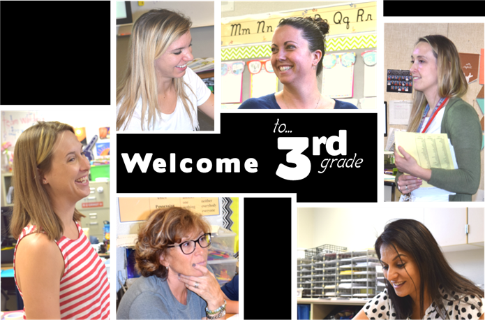 Welcome to 3rd Grade Image with pictures of all the teachers