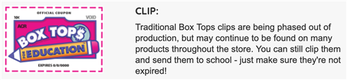 Clip Box Tops for Education