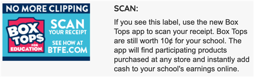 Scan Box Tops for Education