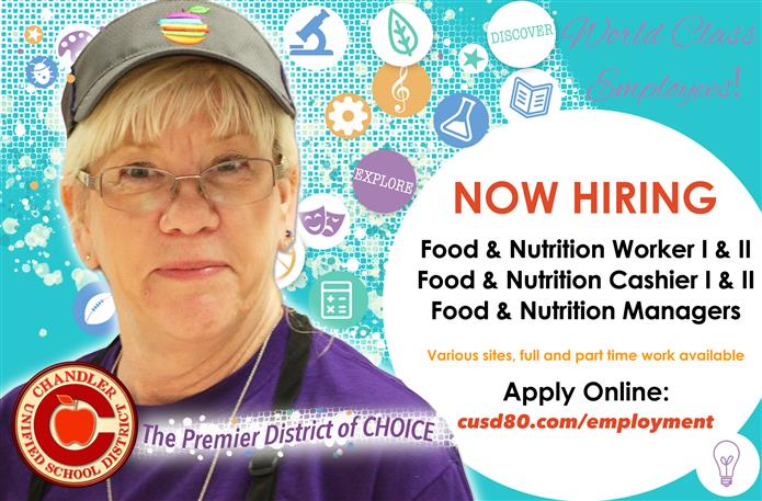 Food Service Worker - Now Hiring Graphic