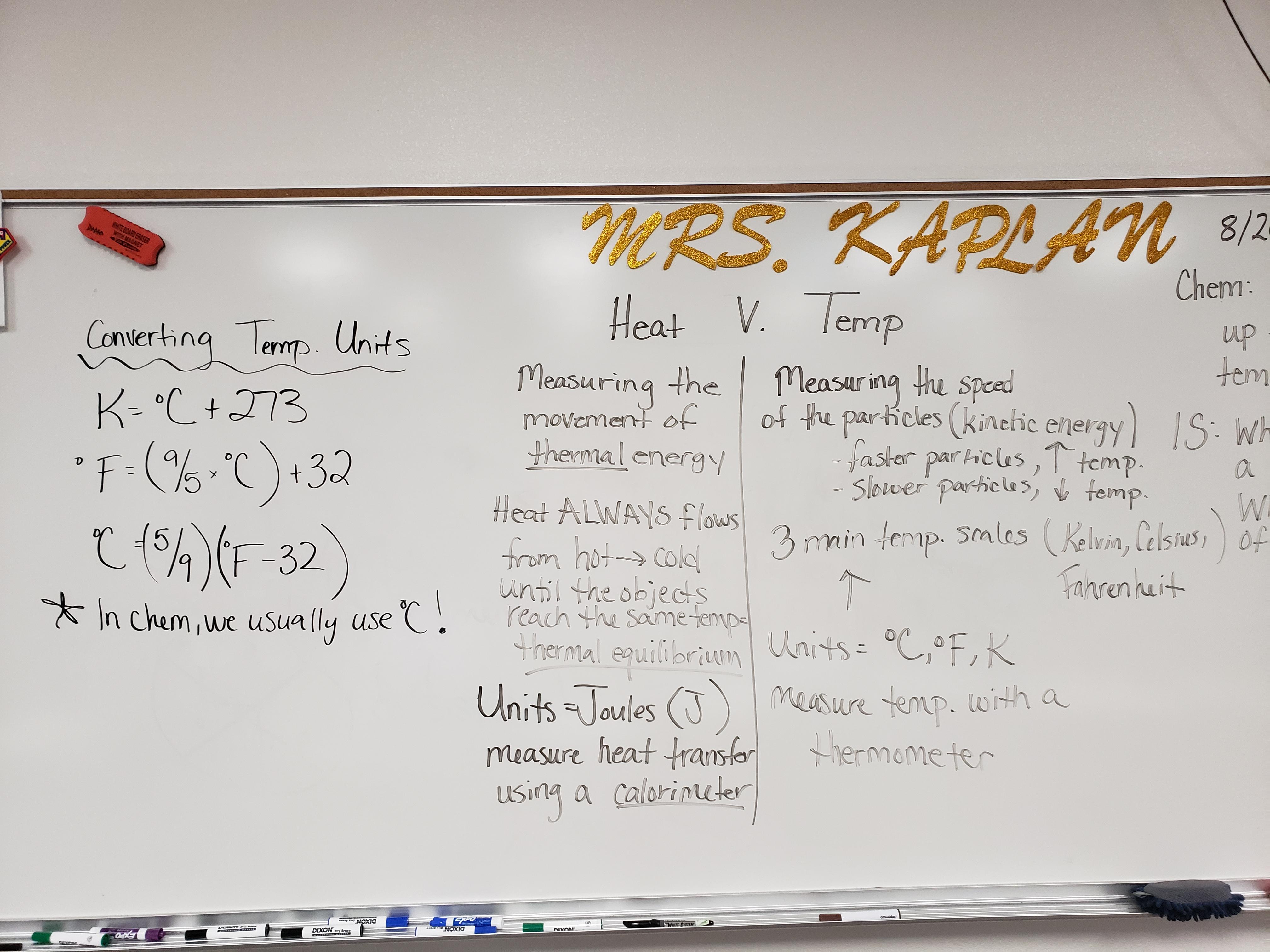 Kaplan, Kendra / Honors Chemistry 2019-2020