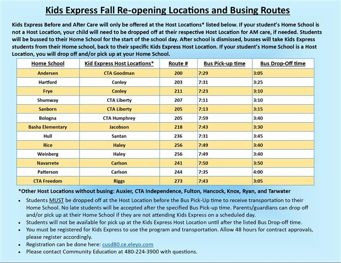 Kids Express Busing