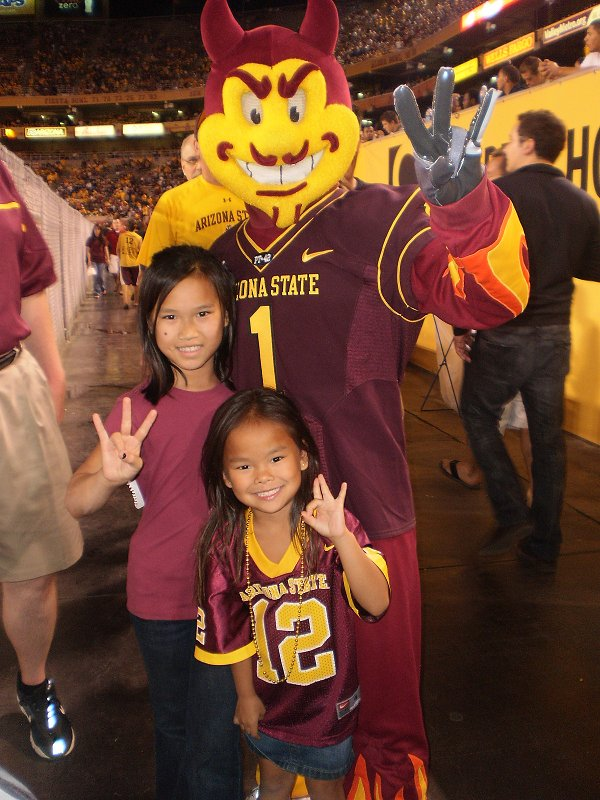 My girls with Sparky