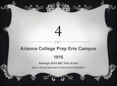 Arizona College Prep - Erie Campus ranked by Arizona Department of Education College Board as the #4 best high school in the state