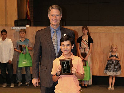 Jax Minnis, March's City of Gilbert Student Citizen of the Month