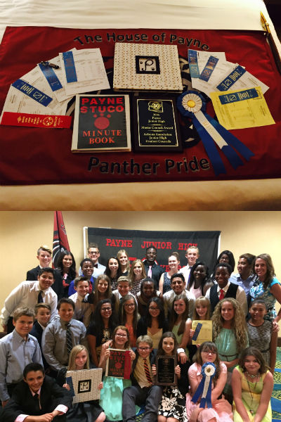 All the awards Payne Student Council won at State Convention