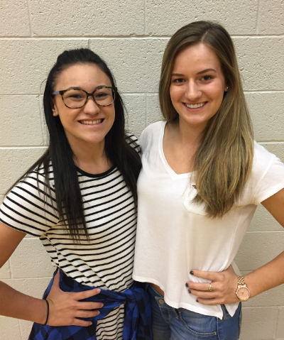Hamilton Dance Students, Alyssa Bortono and Ashlyn Wenginer