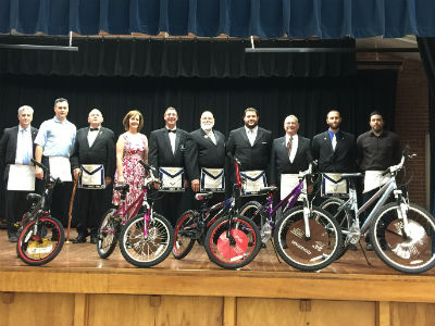 Chandler Masonic Lodge donated bicycles and gift cards to our 4th quarter reading contest
