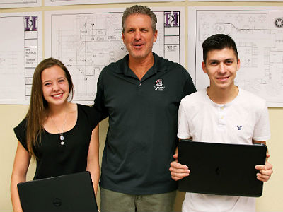 Oscar Visencio and Meredith Bahling, CAD Academy- National LEED Home Design Contest Winners