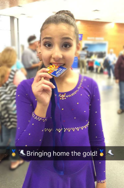 Malaq Ali, First Place winner in Basic Freeskate Level 4 at the annual Arizona Ice Classic Competition