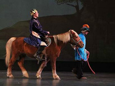 Isaac Dowdle portraying Prince Topher in Cinderella