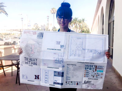 Hamilton senior Megan Mollet - Yearbook Contest at Jostens University in San Diego