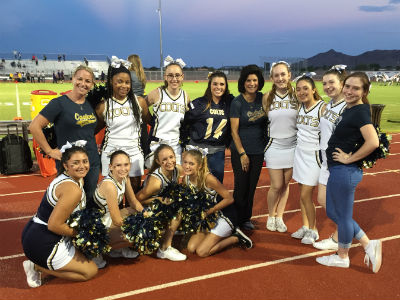 Casteel High junior high cheer team