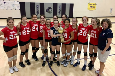 Bogle Junior High EVC volleyball champs