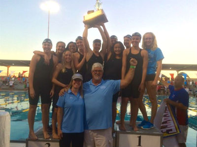 CHS Girls Swim Team, coached by Kerry Croswhite