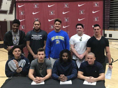 National Letter of Intent Signing - Football Athletes