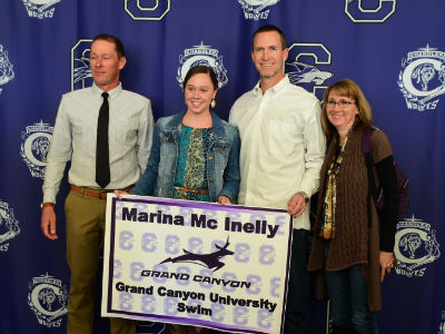 Marina McInelly, CHS Swimmer