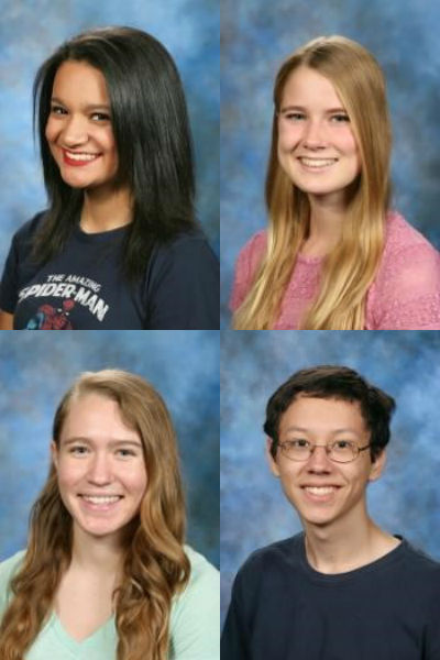 Timara Crichlow, Gabrielle Enns, Emily Halgason, and Nicholas Johnson