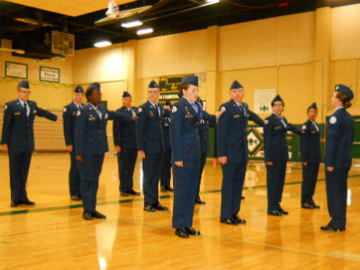 Hamilton AFJROTC at the Colorado River Veteran's Drill Meet