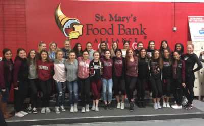 Hamilton High School Cheer at St. Mary's Food Bank