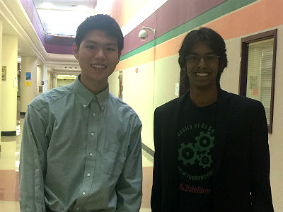 Justin Zhu and Dhruv Iyer, Coca Cola Scholars for 2017