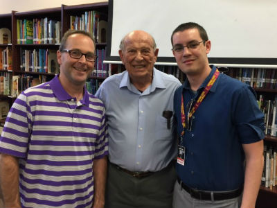 Oskar Knablauch, Holocaust Survivor, at Payne Junior High