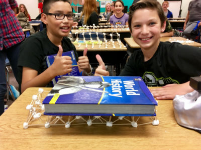 Hancock's accelerated 6th graders and the Great Wall of China Challenge