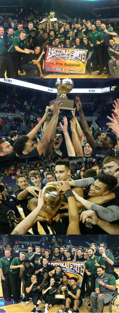 Basha High 6A Boys Basketball State Champions