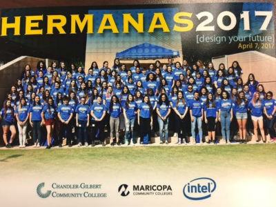 Chandler High students at the Hermanas Conference