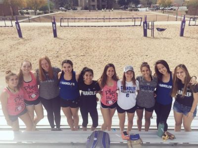 The CHS Girls Beach Volleyball Team