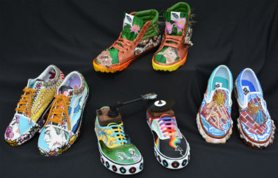 Hamilton art students - Vans shoes design