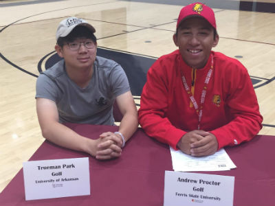 Hamilton 2017 Signing day - Boys' Golf